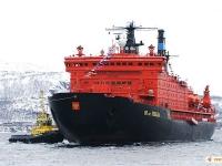 Atomový ledoborec 50 let Vítězství, jeden z členů doprovodu na Severní mořské cestě
