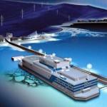 Vlečná loď pro první plovoucí jadernou elektrárnu