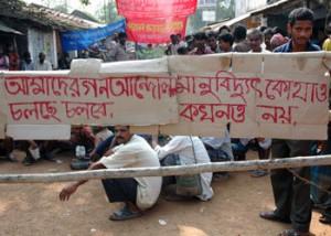 Protesty proti výstavbě elektrárny v Haripuru