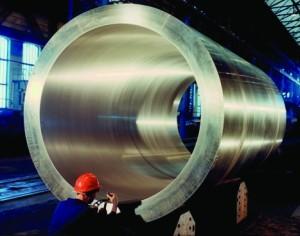 Ukázka produkce těžkého jaderného strojírenství, jehož výrobu Areva a Američané odložili, na snímku kontejner na jaderný odpad