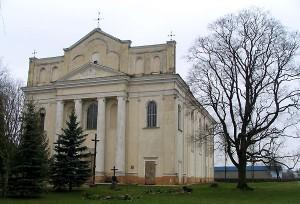 Kostel v běloruském městečku Ostrovec