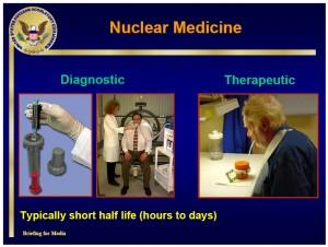 Nukleárná medicína využívá izotopů s krátkým poločasem rozpadu, na snímku např. tomografické vyšetření
