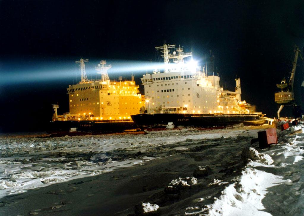 Ruské jaderné ledoborce Tajmyr, Rusko a 50 Let Vítězství změní světový tok zboží