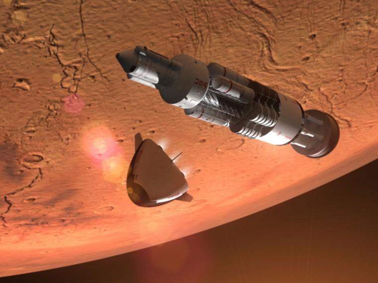 Šéf ruské vesmírné agentury: S jaderným pohonem může cesta na Mars trvat pouhé 2-4 měsíce