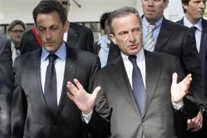Francouzský prezident Nicolas Sarkozy a šéf EDF Henri Proglio. Jaké další změny čekají francouzské jádro?