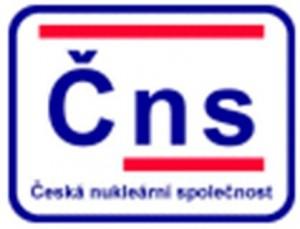 Logo České nukleární společnosti. ČNS je nevládní příspěvkovou organizací, zaměřující se především na osvětu veřejnosti v oblasti jaderné (a nejen jaderné) energetiky a souvisejících tématech. Mimo jiné pořádá mnoho odborných seminářů a konferencí.
