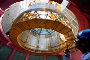 FBTR není jediným dítětem Centra Indíry Gándhíové - vyvíjí například i takovéto tlakové nádoby pro grafitové reaktory.