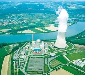 Jaderná elektrárna v Leibstadtu.