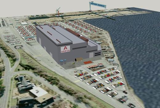 Areva pozastavila na neurčito stavbu továrny na jaderná zařízení v USA