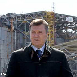 """Viktor Janukovyč: """"Na nový černobylský sarkofág nám stále chybí 150 milionů eur"""""""