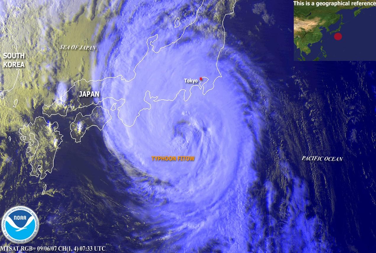K Japonsku se rychle blíží velký tajfun, který může ohrozit JE Fukušima