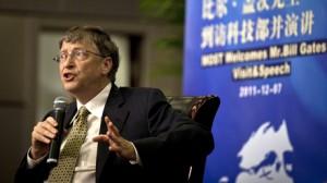 Bill Gates po jednání se zástupci čínského Ministerstva průmyslu.