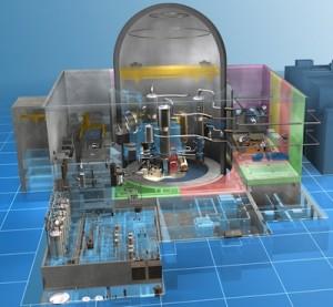 Reaktor ATMEA - menší model z produkce francouzské Arevy.