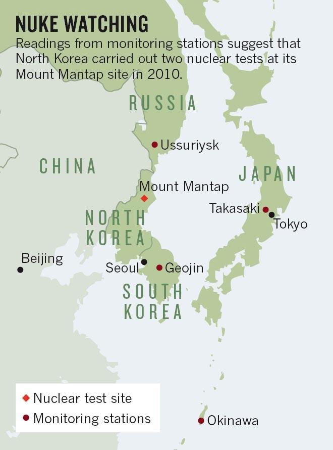 Severní Korea podle některých vědců provedla další jaderné zkoušky
