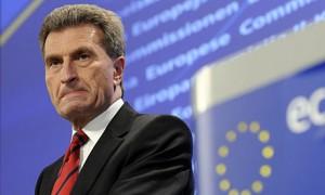 Günther Oettinger, eurokomisař pro životní prostředí. Zdroj: guardian.co.uk