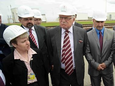 Václav Klaus se při návštěvě Temelína ostře pustil do Bartušky