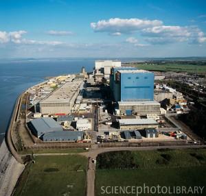 Jaderná elektrárna Hinkley Point, které má přibýt další blok. Zdroj: Sciencephoto.com