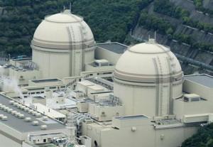 Třetí (vpravo) a čtvrtý blok jaderné elektrárny Ohi. Ta je první japonskou vlaštovkou ve spouštění po fukušimské nehodě. Zdroj: dailystar.com.lb