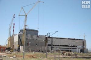 Již pohašená Rostovská jaderná elektrárna, část ve výstavbě. Zdroj: kp.ru