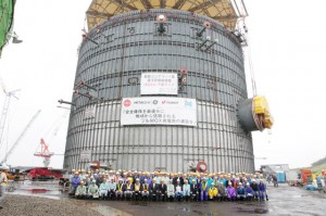 Stavba jaderné elektrárny Oma. Zdroj: hitachi-hgne.co.jp