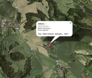 Olší na mapě. Zdroj: olsi.cz