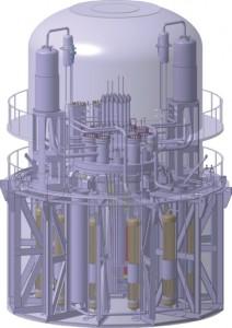 Divácky vstřícné zpracování reaktoru SVBR-100. Zdroj: Gidropress