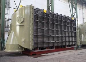 Modul parního kondenzátoru s titanovými trubkami z dílny ZVU POTEZ. Zdroj: zvupotez.cz