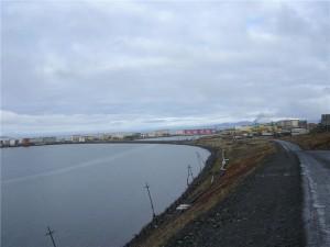 Panorama Peveku. Tak vypadá nejsevernější město v Rusku. Zdroj: pevek.ru