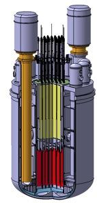 Modul primárního okruhu reaktoru SVBR-100 (zdroj: http://www.akmeengineering.com)