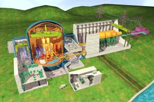 Počítačové ztvárnění systému EPR od Arevy. Areva tento reaktor nabízela i v temelínském tendru. Zdroj: EDF