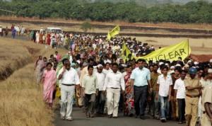 V Indii jsou v poslední době protijaderné protesty poměrně častým jevem, zřejmě za to může hlavně situace v Japonsku.