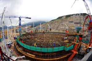 Stavba bloku Taishan 2. Zdroj: CGNPC