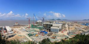 Stavba jaderné elektrárny  Sanmen