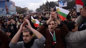 Protesty v Bulharsku. Zdroj: euronews.com