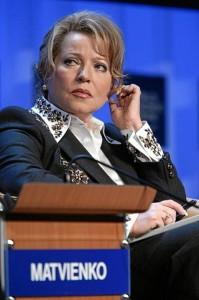 Předsedkyně horní komory ruského parlamentu Valentina Matvijenko Zdroj: Wiki