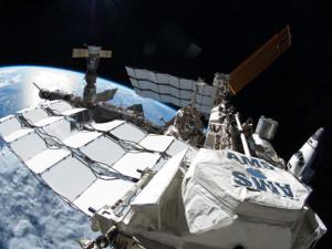 Detektor AMS na Mezinárodní kosmické stanici. Zdroj: Sciencedaily