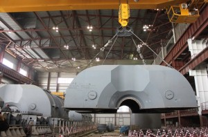 Instalace turbíny. Zdroj: Atominfo.ru