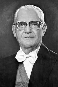Ernesto Geisel, od roku 1966 brazilský generál a od roku 1974 brazilský prezident. Zatímco z jeho plánu na vojenské využití jádra nic nebylo, v mírovém využití dosáhl jistých úspěchů. Za doby jeho vlády byla podepsána smlouva s Německem o stavbě několika jaderných elektráren. Z těchto elektráren byla ale započata výstavba pouze druhého a třetího bloku již existují elektrárny Angra s tím, že práce byly na několik desítek let zastaveny. (Zdroj: Wikipedia.org)