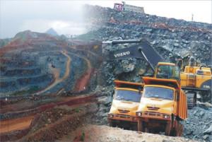 Fotky z těžby uranu v povrchovém dole Banduhurang. Všimněte si, že jeho provozovatel si pro focení zvolil české vozy Tatra Jamal. (Zdroj: Ucil.gov.in)