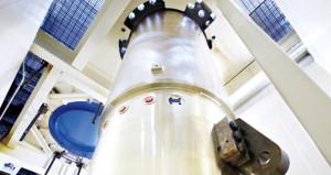 Jedno z hlavních cirkulačních čerpadel pro reaktory typu AP1000. Tato čerpadla vyvinula americká společnost Curtiss-Wright jako pokračování své vývojářské tradice staré již několik desítek let. První čerpadlo pro komerční jaderný reaktor tato společnost vyvinula už v roce 1957, ještě předtím ale měla zkušenosti s čerpadly pro jaderné ponorky. (Zdroj: Curtisswright.com)