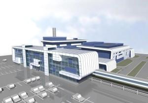 Představa budoucí podoby závodu na výrobu jaderného paliva poblíž města Smolino. (Zdroj: Atomic-energy.ru)
