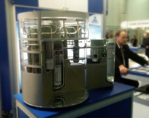 Model reaktoru VBER-300 na Kazatomexpo 2012. (Zdroj: Centralasiaonline.com)