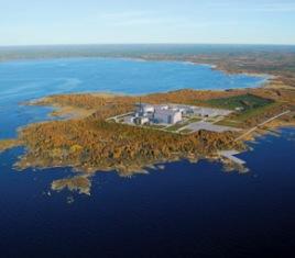 Místo pro novou finskou JE, na snímku je návrh s francouzským reaktorem EPR. Zdroj: World Nuclear News