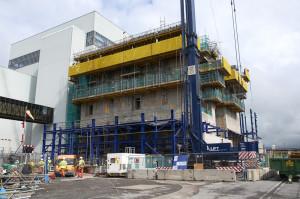 Stavba budovy pro novou odparku začala v roce 2009. Tento snímek je ze srpna roku 2010.