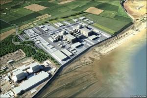 Vizualizace jaderné elektrárny Hinkley Point C od francouzské energetické skupiny EDF. (Zdroj: News.bbc.co.uk)