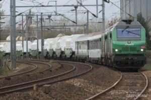 Podobné převozy použitého jaderného paliva jako tento z Francie do Německa probíhají i v Rusku, ale na výrazně delší trase, která dosáhne téměř 5000 km. (Zdroj: Greenpeace.org)