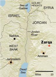 Zarqa je průmyslové centrum Hašemitského království a právě zde bude stát první jordánská JE. Zdroj: NY Times