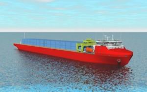 Představa konstruktérů o budoucí podobě nového plavidla. (Zdroj: Atomic-energy.ru)