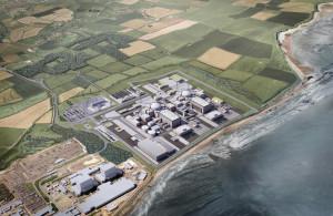 Vizualizace dvou nových bloků v části jaderné elektrárny Hinkley Point C. (Zdroj: Investbridgewater.com)