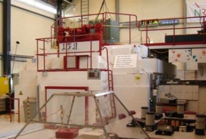 Reaktor s nízkým tokem neutronů v nizozemském jaderném centru Petten.